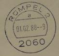 01.02.1988: erster Stempel 2060 Rümpel 2