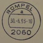 30.06.1993: letzter Stempel mit der Postleitzahl 2060