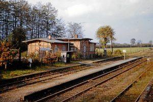 Der Rohlfshagener Bahnhof 1966 - Foto Kreisarchiv Stormarn, Schwerdtfeger