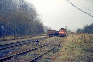 Güterumschlag auf dem dreigleisigen Rohlfshagener Bahnhof 1972 - Foto Kreisarchiv Stormarn Schwerdtfeger