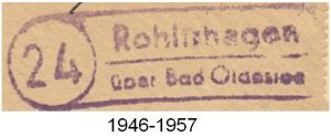 Poststellenstempel Rohlfshagen 1946 - 1957