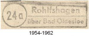 Poststellenstempel Rohlfshagen 1954 - 1962