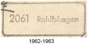 Poststellenstempel Rohlfshagen 1962 - 1963
