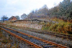 die Verladerampe auf dem Rohlfshagener Bahnhof 1966 - Foto Kreisarchiv Stormarn Schwerdtfeger