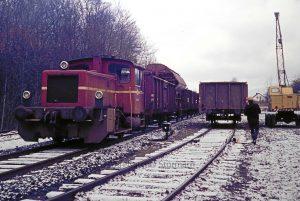 Verladen von Zuckerrüben auf dem Rohlfshagener Bahnhof 1974 - Foto Kreisarchiv Stormarn Schwerdtfeger