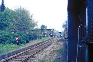 Foto aus dem Zug mit der letzten Dampflokomotive 1972 - Foto Kreisarchiv Stormarn Schwerdtfeger
